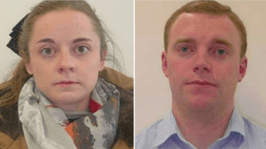 Police said the 24-year-old woman and 26-year-old man got off the flight from Canberra just before 11am on Friday.