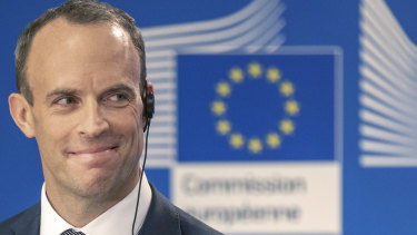 British Brexit Secretary  Dominic Raab