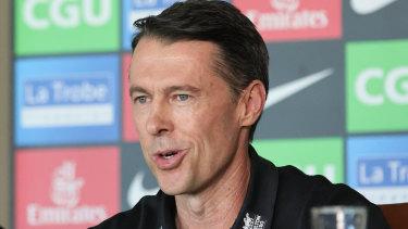 Collingwood's new senior coach, former triple premiership-winning Brisbane Lion, Craig McRae.