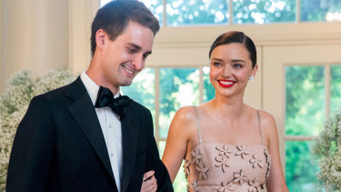 Snapchat CEO Evan Spiegel (with Miranda Kerr) is another high profile Stanford dropout.