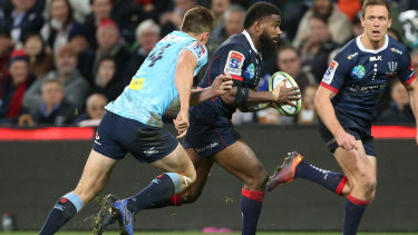 Controversy: the Rebels felt they should have been awarded a penalty try for a hit on Marika Koroibete.