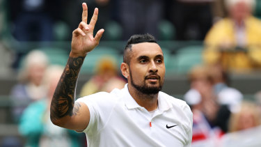 Nick Kyrgios is through to the third round at Wimbledon.
