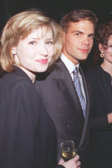 Lachlan Murdoch and his former fiancee Kate Harbin at the Marie Claire Australia launch in 1995.