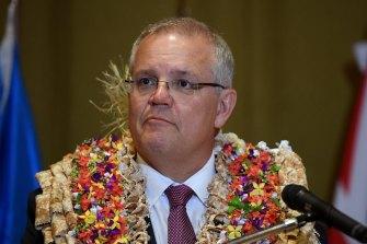 Australian Prime Minister Scott Morrison pictured in Fiji in January.