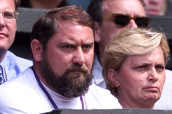 Damir Dokic watches on at Wimbledon two decades ago.