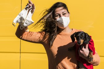 After losing her retail job in early 2020, Simone Yammine has cornered the market for eco-friendly face masks.