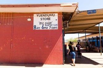 The 'big shop' in the remote Aboriginal community of Yuendumu.