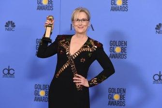 Meryl Streep with her Golden Globe.