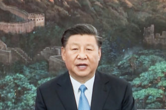 In his speech, China's President Xi Jinping called for a global response to the coronavirus pandemic.