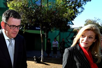 Premier Daniel Andrews and Reason Party MP Fiona Patten.