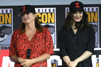 "Rachel Weisz with Cate Shortland: ""She was always kind of totemic to me,"" Weisz says of the Australian writer-director."