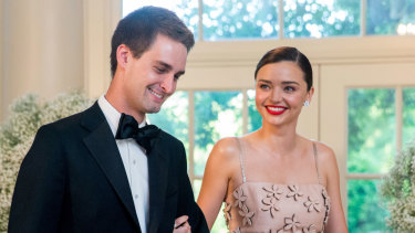 Miranda Kerr and Snapchat CEO Evan Spiegel in less covert times in 2016.