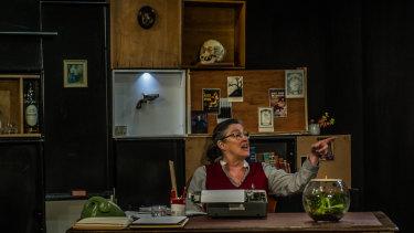 Karen Vickery as writer Patricia Highsmith in <i>Switzerland</i>.