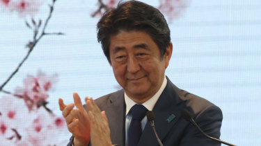 Japan's Prime Minister Shinzo Abe pictured at the G20 gathering in Buenos Aires on Saturday.