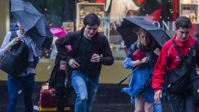A severe thunderstorm warning may dampen Christmas celebrations.