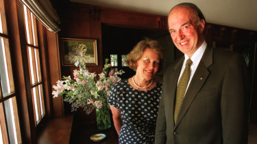 Sir James and Lady Gobbo at home in Kew before moving to Government House in 2008.
