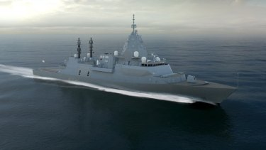 An artist's impression of the Global Combat Ship Australia - proposed by BAE Systems.