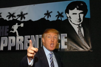 ''You're fired'': Donald Trump spruiks The Apprentice in 2006.