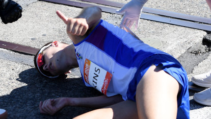 Collapsed Scot asked if he won marathon