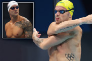Kyle Chalmers and Caeleb Dressel (inset).
