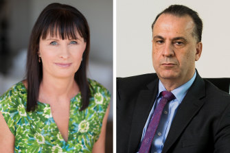 Catherine Lumby, Peter V'landys composite for online. Photos:Supplied, Dominic Lorrimer