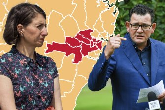 Berejiklian said there was no medical reason justifying the Andrews government's border restrictions with Sydney, as 10 local government areas remain restricted 'red zones'.