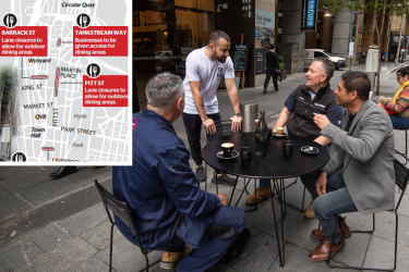 Sydney CBD could soon have more outdoor dining areas.