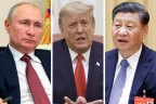 Russian President Vladimir Putin, Donald Trump and China's Xi Jinping.