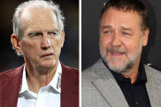 Russell Crowe, right, is desperate to hold on to Wayne Bennett.