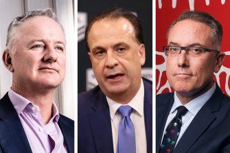Nine CEO Hugh Marks, ARLC chairman Peter V'landys and Foxtel boss Patrick Delany have been locked in negotiations.