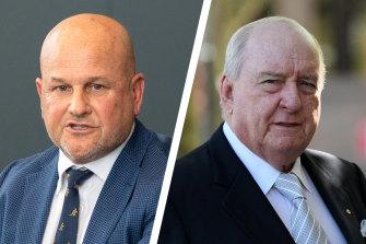 Composite of Rugby Australia's Rob Clarke and Alan Jones.
