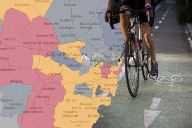 "NSW Police have been accused of using bike fines as a ""hidden justice system"" to enable searches of poor and vulnerable people, with new data obtained under freedom of information laws showing penalties are soaring in some suburbs while others have none. Main photo: Wolter Peeters"