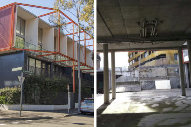 The site at 6 Wolseley Grove, Zetland, and an image of the property from the City of Sydney council.