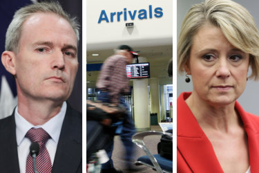 A bureaucratic bungle has led to a serious error in the political row over asylum seekers who arrive by plane, with revised numbers showing the trend is not on track to reach the peak claimed last week.