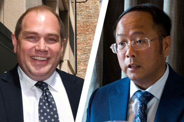 Left: Former NSW Labor Party boss Jamie Clements outside ICAC this week. Right:Huang Xiangmo, the Chinese property developer and prolific party donor.