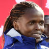 Fresh off world record marathon, Kosgei says women can go even faster