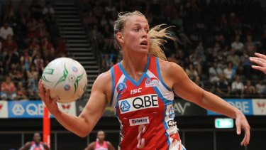 Kim Green in action for the Swifts in 2011.