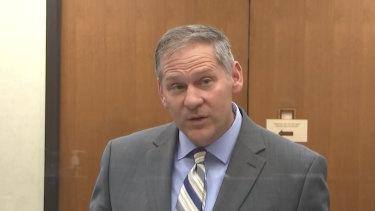 Prosecutor Steve Schleicher during the trial.