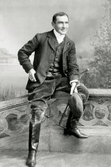 Aristrocratic leanings: a studio portrait of Morant taken while  in England  late 1901.