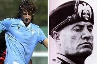 Romano Floriani Mussolini and his great grandfather Benito.