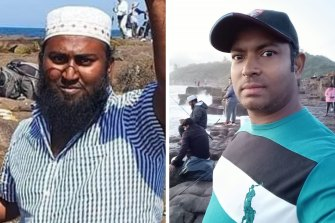 The men who died have been identified as Mahade Khan (left), 30, and Muzaffar Ahammed, 37.