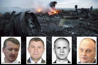 From left, Igor Girkin, Sergei Dubinsky, Oleg Pulatov, Leonid Kharchenko.