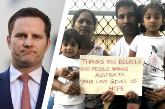 Immigration Minister Alex Hawke has given the Murugappan family three-month bridging visas.