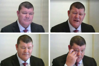 James Packer faced a barrage of questions.