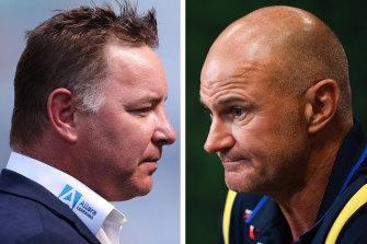 Adam O'Brien and Brad Arthur clash on Sunday.