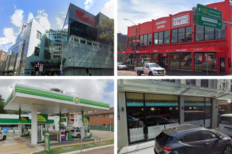 Westfield Bondi Junction, 	Barbeques Galore in Annandale, BP Mascot and Barbetta restaurant in Paddington are some of the locations the man visited.