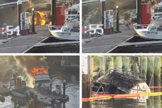 [morning save com daily blast]'It happened so bloody quickly': The hero who towed flaming boat from wharf