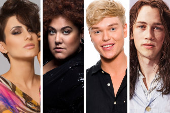 Among the 10 artists vying to represent Australia at Eurovision next year are The Voice winner Diana Rouvas, Australian Idol winner Casey Donovan, Australia's Got Talent winner Jack Vidgen, and folk musician Didirri.