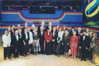 The team that presented Melbourne's Olympic bid, led by Bob Hawke.