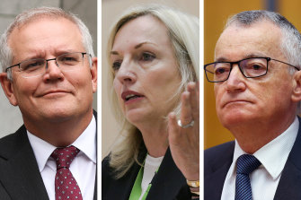 Prime Minister Scott Morrison has distanced his government from the dispute embroiling former Australia Post boss Christine Holgate and the company chairman Lucio Di Bartolomeo.